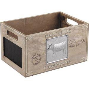 Aubry-Gaspard - caisse en bois maison de campagne - Storage Box