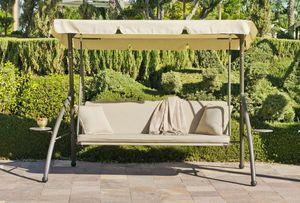 HEVEA - balancelle canada en acier et toile acrylique 180x - Swinging Chair