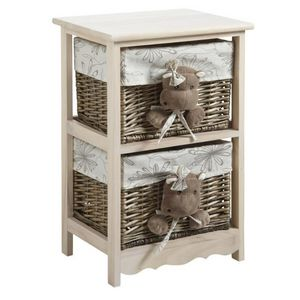 Aubry-Gaspard - commode 2 tiroirs hippopotames - Children's Drawer Chest