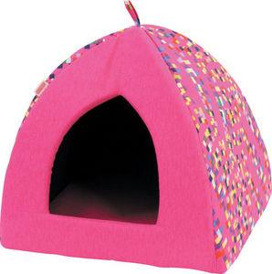 ZOLUX - igloo graffiti rose en tissu et ouate 45x45x40cm - Kennel