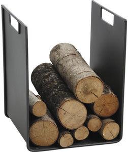 Aubry-Gaspard - porte-bûches métal gris avec poignées - Log Carrier
