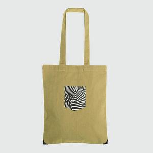 JOVENS - tote bag pocket zèbre - Handbag