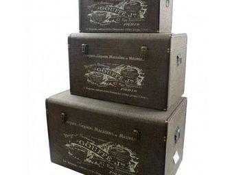 L'HERITIER DU TEMPS - set 3 malles 3 tailles rangement - Trunk