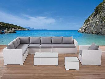 BELIANI - xxl blanc - Garden Furniture Set