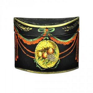 Demeure et Jardin - boite à thé tole peinte russe - Tea Box