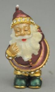 Demeure et Jardin - boite pere noel rose - Christmas Decoration