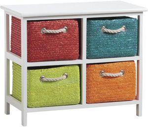 Aubry-Gaspard - commode 4 panières couleurs - Storage Locker