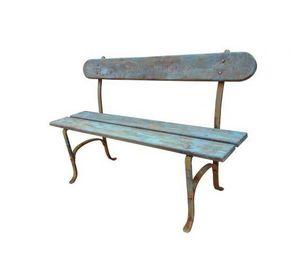 Fd Mediterranee - forgé et bois patiné - Garden Bench
