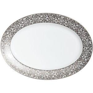 Raynaud - salamanque platine - Oval Dish