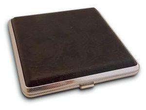 WHITE LABEL - boite à cigarette résistante en cuir matelassé boi - Cigarettes Case