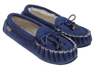 BABBI - femme- winnetou veg azul jeans - Slippers