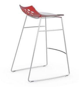 Calligaris - tabouret de bar jam de calligaris piétement luge - Bar Chair