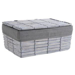 Aubry-Gaspard - coffret en osier fendu gris - Storage Box