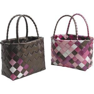 Aubry-Gaspard - sac cabas damier - Shopping Bag