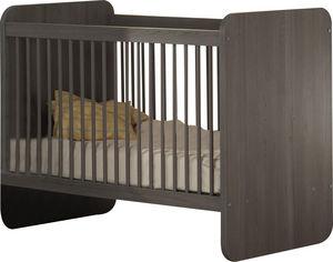 WHITE LABEL - lit évolutif pour chambre bébé coloris bouleau gri - Baby Bed