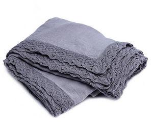 Couleur Chanvre - couleur iris - Rectangular Tablecloth