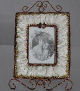Demeure et Jardin - cadre rectangulaire moiré ivoire - Frame