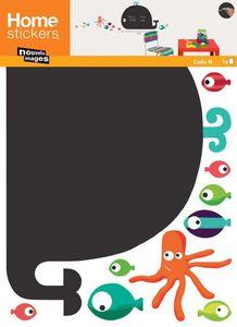 Nouvelles Images - sticker mural baleine ardoise - Sticker