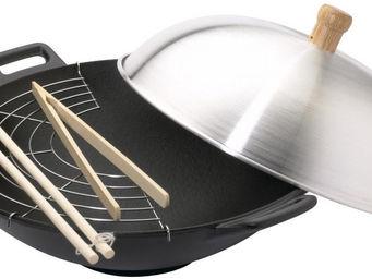 INVICTA - wok en fonte 33cm tous feux et induction - Wok