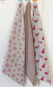 ITI  - Indian Textile Innovation - christmas - 3 pce pack - Tea Towel