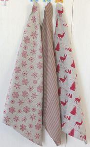 ITI  - Indian Textile Innovation - christmas - 3 pce pack - Tea Towel
