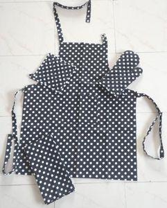 ITI  - Indian Textile Innovation - dots - black - Kitchen Apron