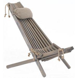 ECOFURN - chilienne en bois ecochair (coussin offert) pin gr - Deck Chair