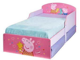 WHITE LABEL - lit + matelas morpho 70*140 cm - peppapig n°3 - l - Children's Bed