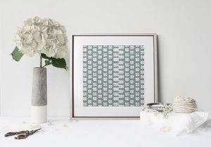 la Magie dans l'Image - print art lotus vert-de-gris blanc - Poster