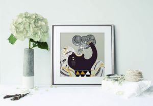 la Magie dans l'Image - print art pluie gris - Poster
