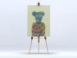 la Magie dans l'Image - toile ma petite souris fond fluo - Digital Wall Coverings
