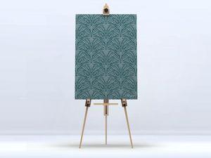 la Magie dans l'Image - toile plumes de paon grises - Digital Wall Coverings