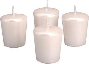 Amadeus - lot de 4 bougie blanches nacrées - Candle
