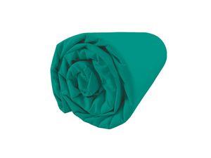 BLANC CERISE - peignoir col châle - coton peigné 450 g/m² bleu g - Fitted Sheet