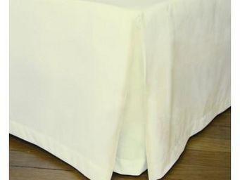 Liou - cache-sommier plis creux ivoire - Bedskirt