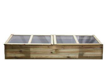 CEMONJARDIN - serre double chassis en bois florence - Garden Greenhouse