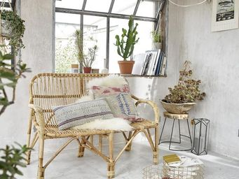BOIS DESSUS BOIS DESSOUS - canapé en rotin vintage - Garden Sofa