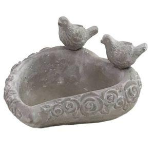 CHEMIN DE CAMPAGNE - bain d'oiseaux oiseau mangeoir abreuvoir en cimen - Birdbath