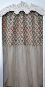 Coquecigrues - rideau rose treillage - Ready To Hang Curtain