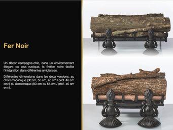 Cheminée de Changy - fer noir - Flueless Burner Fireplace