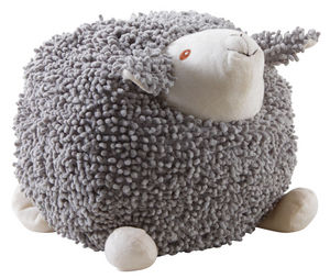 Aubry-Gaspard - mouton à suspendre en coton gris shaggy grand modè - Soft Toy
