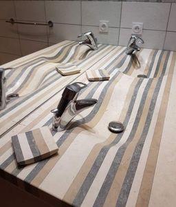 Maison Derudet - double / lamellé roches - Wash Hand Basin