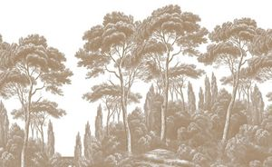 Ananbô - pins et cyprés - Panoramic Wallpaper