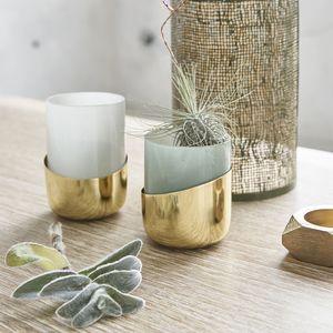 BOIS DESSUS BOIS DESSOUS - set 2 photophores en verre et métal - Candle Jar