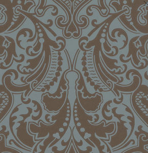 Ralph Lauren Home - gwynne damask - peacock - Wallpaper