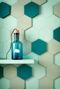 CUIR AU CARRE - hexagone - Leather Tile