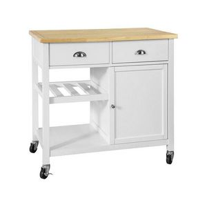 SOBUY -  - Table On Wheels