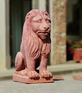 Enzo Zago - lion- - Animal Sculpture