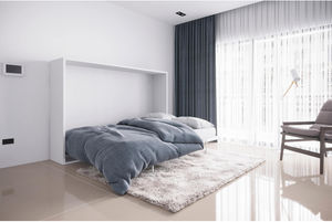 Horizontal bed cabinet