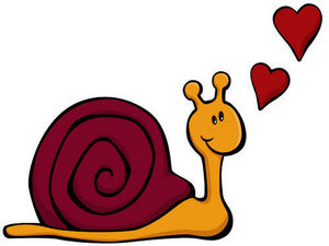 DECOLOOPIO - escargot amoureux - Children's Decorative Sticker